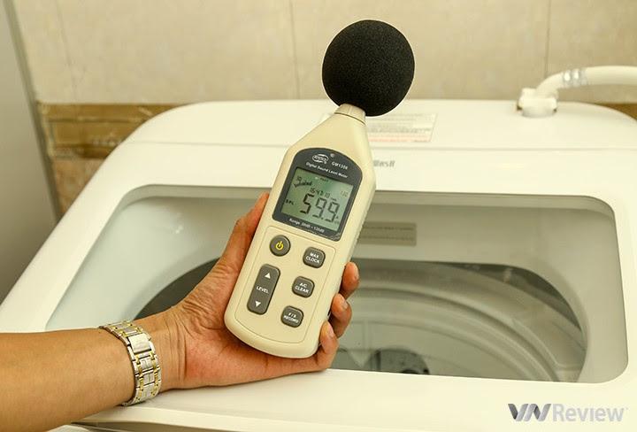 độ ồn của máy giặt Hitachi SF-S95XC   trước khi hoạt động