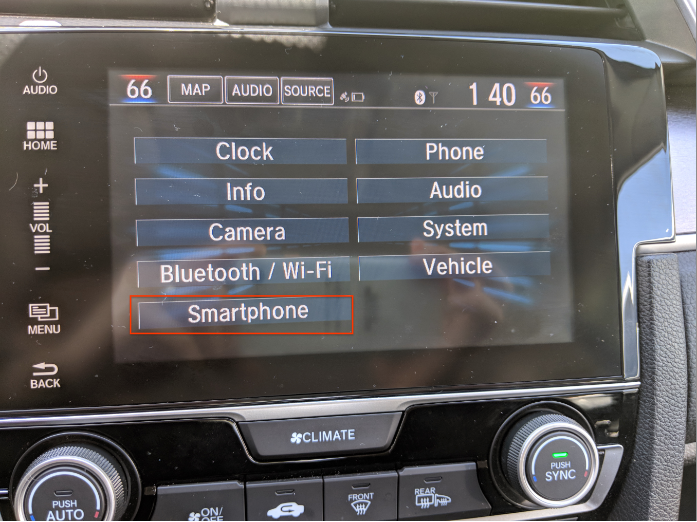 Enable phone device for Android Auto