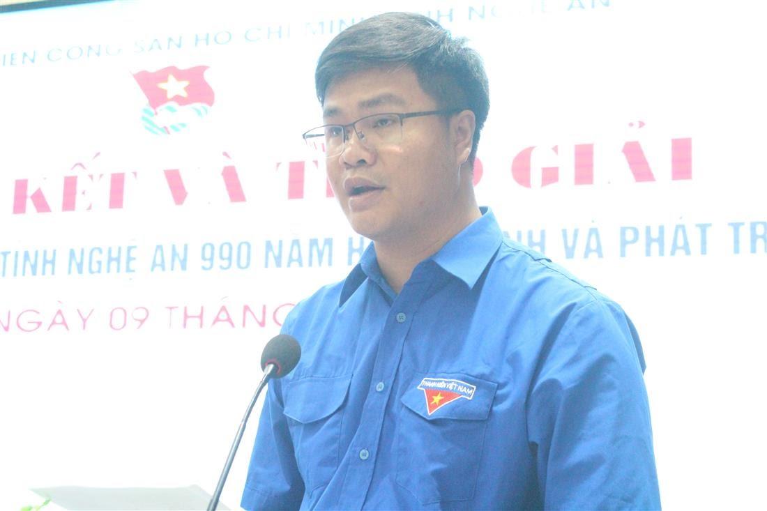 Đồng chí Phạm Văn Toàn, Phó Bí thư Tỉnh đoàn tổng kết cuộc thi