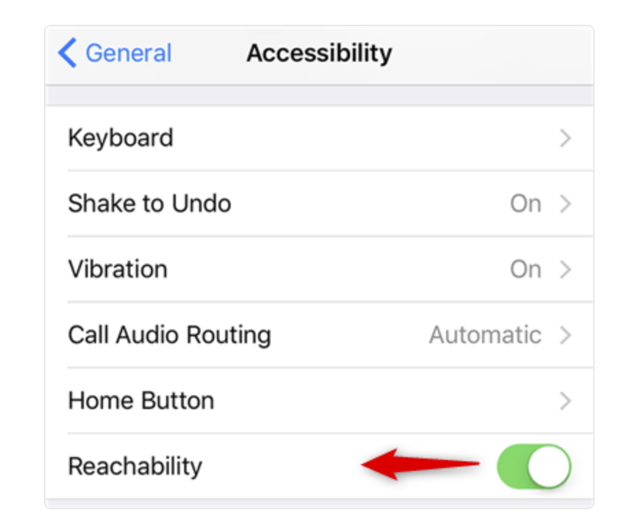 Disable Reachability function on iPhone/iPad