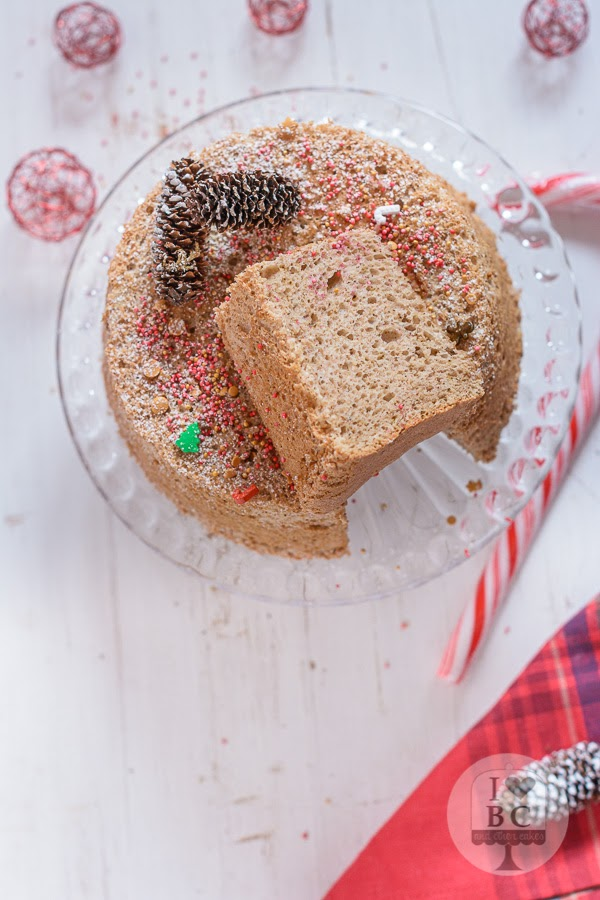 Gingerbread Angel Food Cake