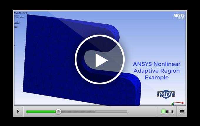 анимация деформирования рассмотренной выше модели, на которой отмечен шаг с перестроением сетки