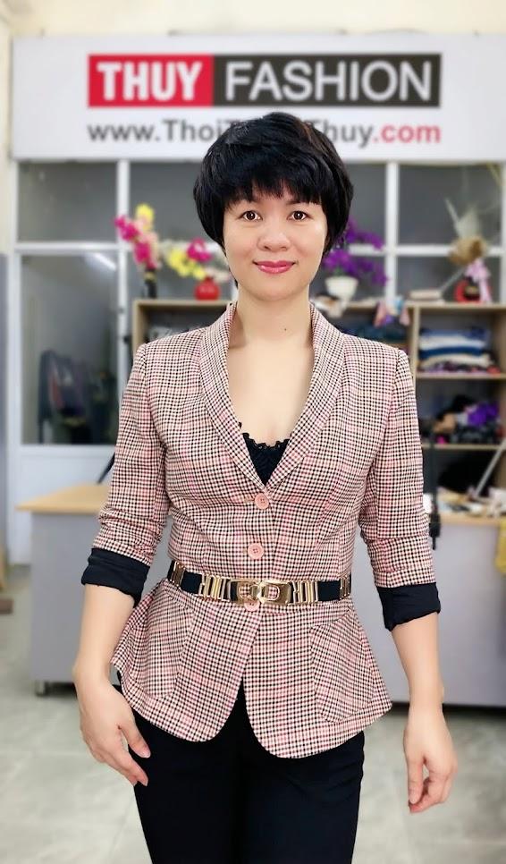 Áo vest nữ công sở kiểu peplum che bụng V739 thời trang thủy sài gòn