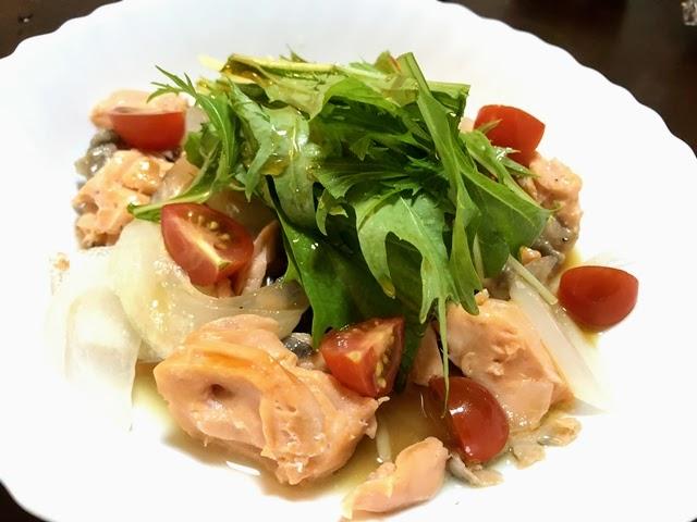 【syunkonレシピ】鮭南蛮サラダを作ってみた!