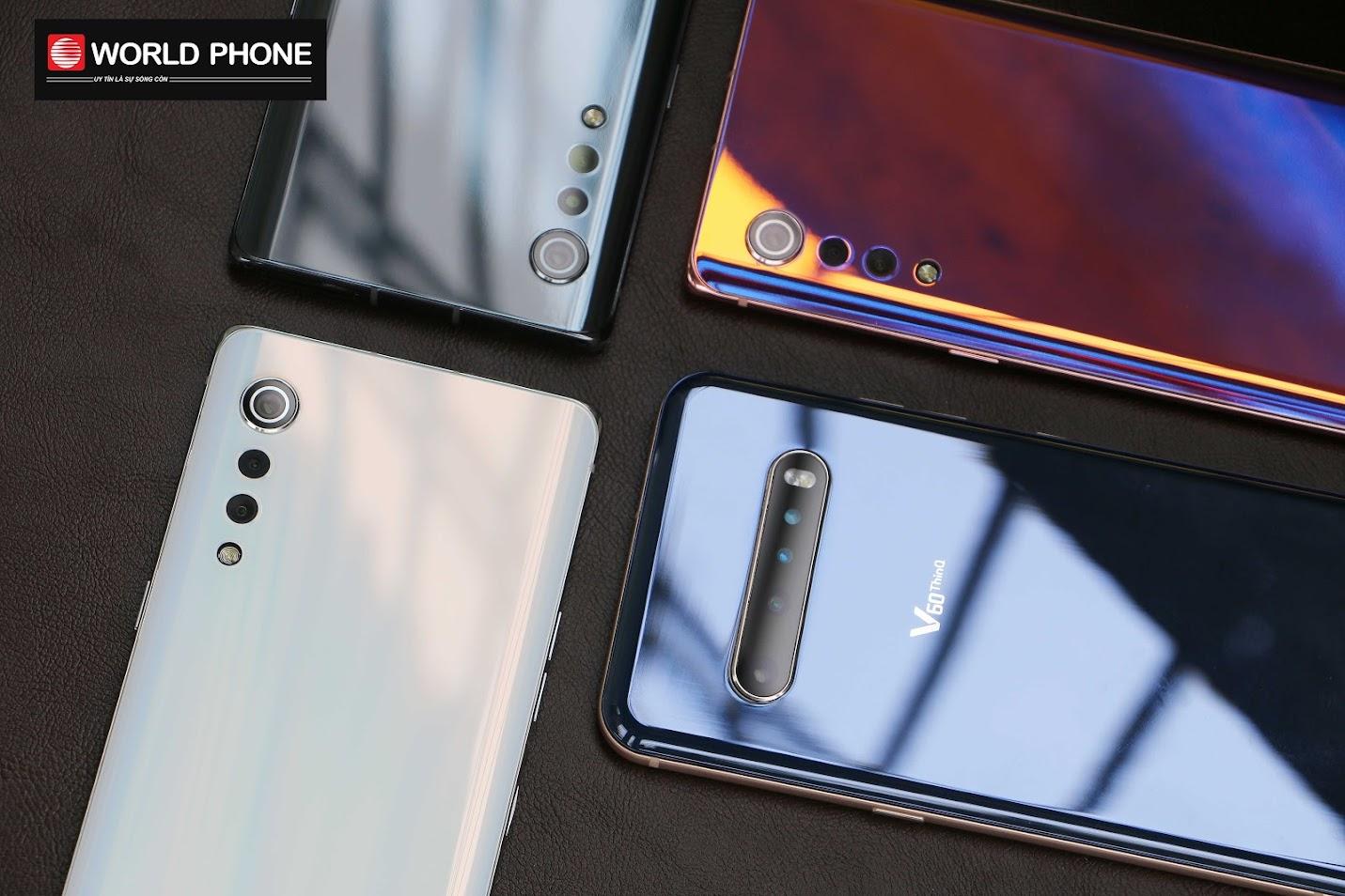 Mặt lưng bóng bẩy của điện thoại LG Velvet