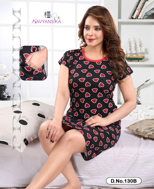 Kavyansika Vol 130 Short Night Gown Catalog Lowest Price