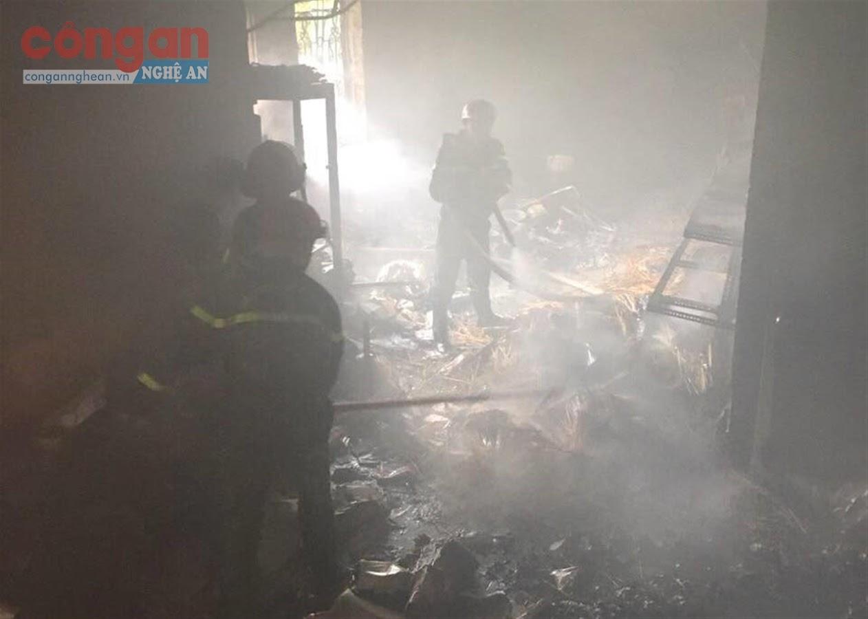 Vụ cháy cửa hàng kinh doanh hàng Thái Lan ở TP Vinh                vào trưa 29/10