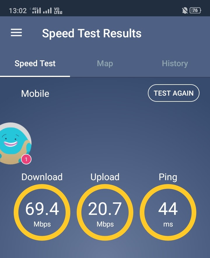 OCN 通信速度チェック