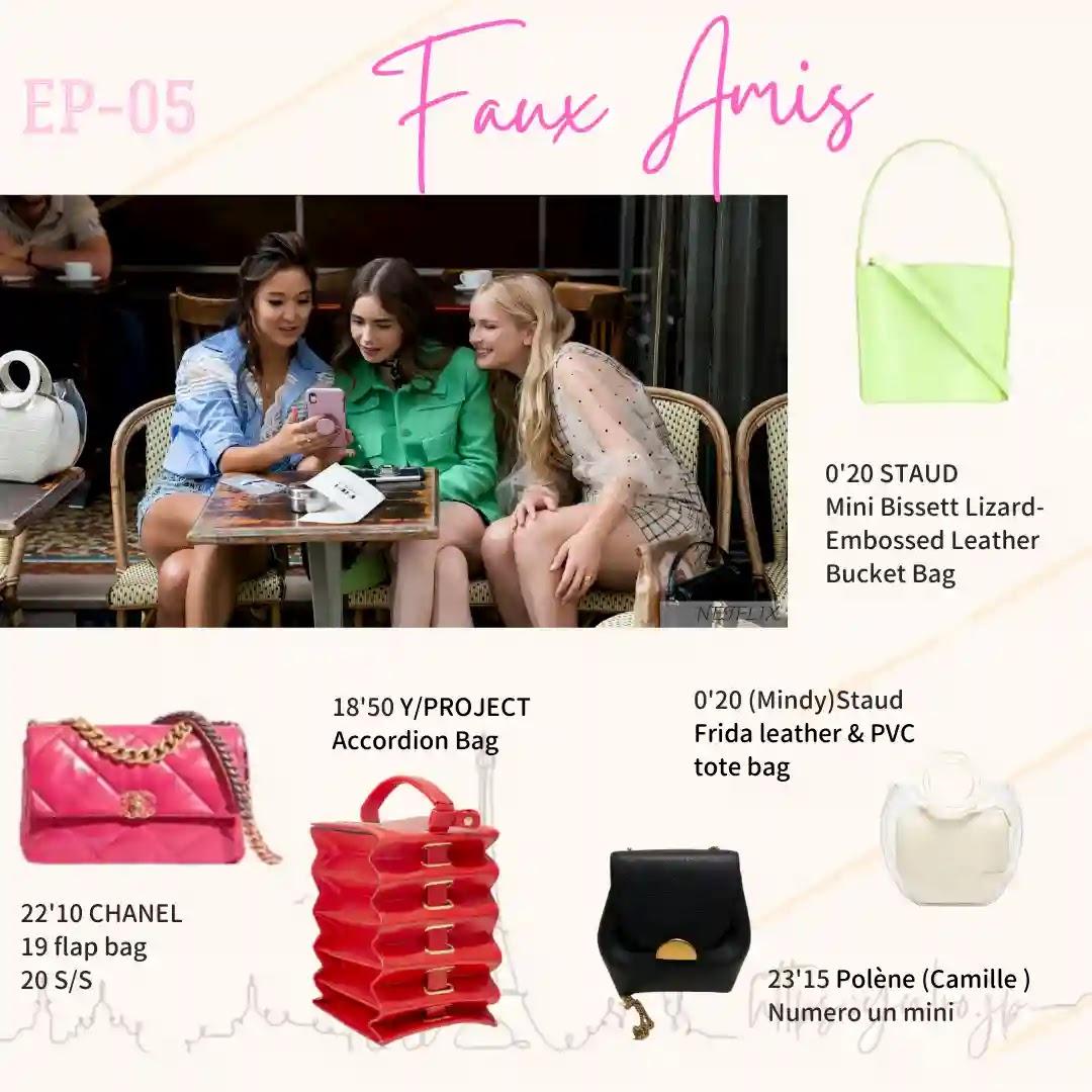 Emily in Paris Episode05 staud bucket bag accordion bag Yproject