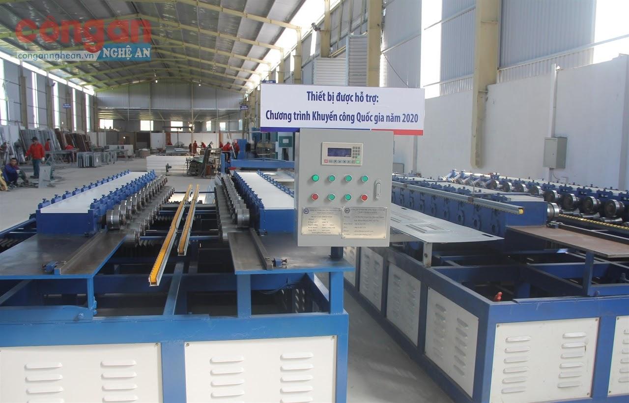 Thông qua hoạt động khuyến công, năng lực sản xuất của các doanh nghiệp được nâng cao