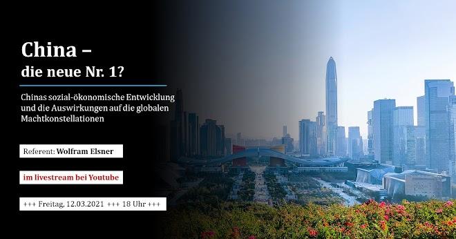 Ankündigung: «China – die neue Nummer 1?», Foto: Shenzhen, Großstadt in der Volksrepublik China.