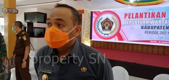 Pelantikan pengurus PWI kabupaten Ngawi Periode 2021-2024