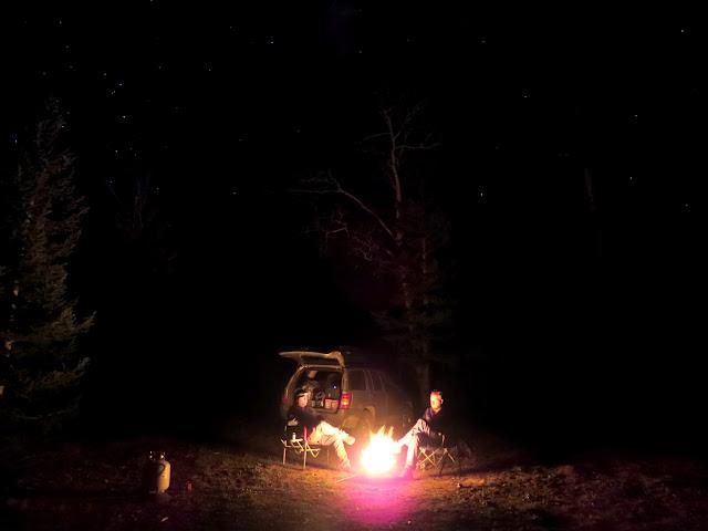 Saturday night 'round the old propane campfire