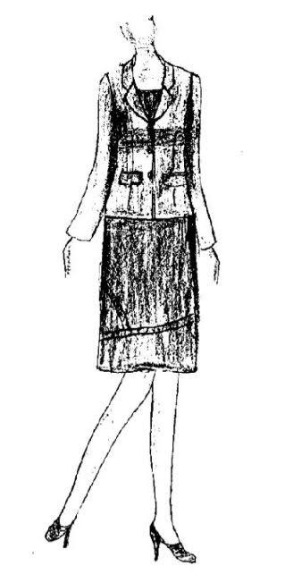 Phương Pháp Thiết Kế Áo Veston Nữ Căn Bản-Bâu Lật Chữ K 1