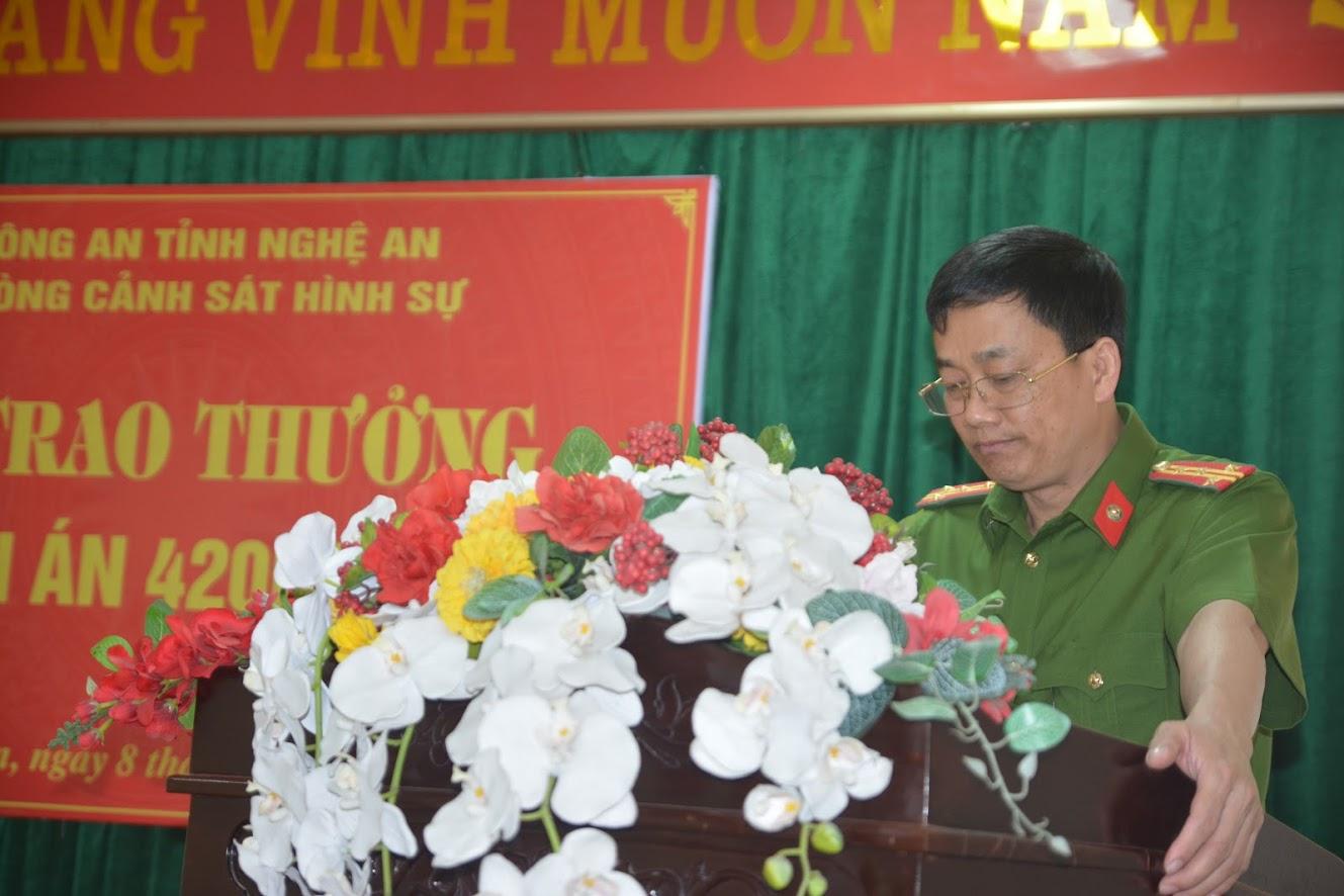 Đại tá Nguyễn Mạnh Hùng, Phó Giám đốc Công an ghi nhận đánh giá cao kết quả mà Ban chuyên án đạt được