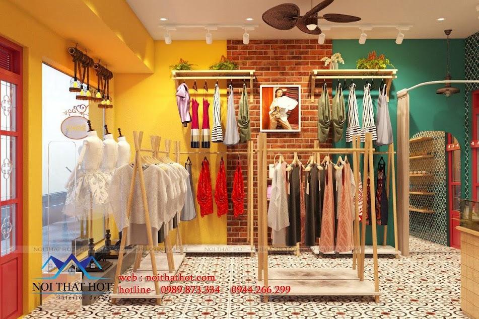 mẫu thiết kế shop quần áo cổ điển