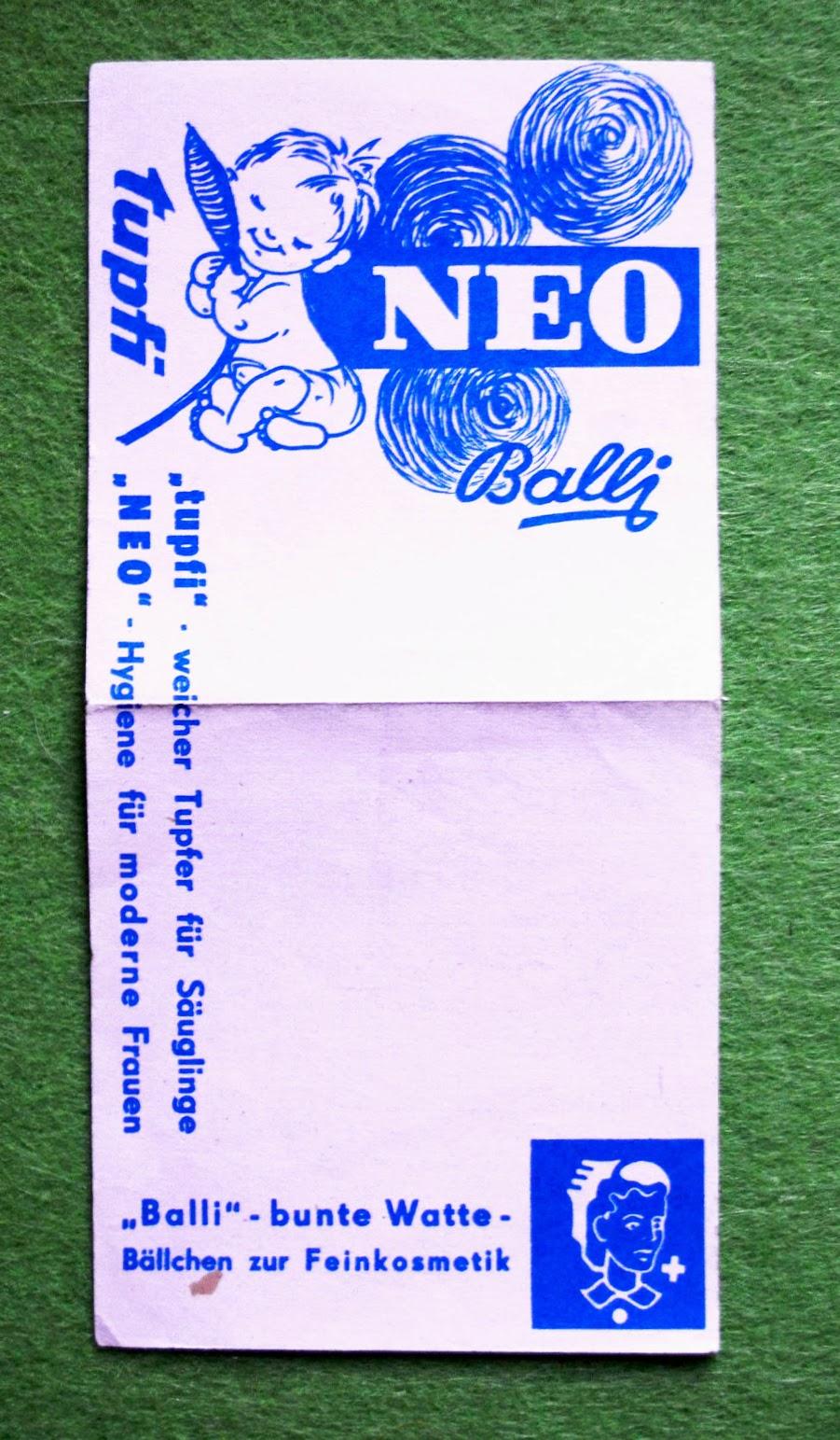 Balli, NEO, tupfi - Werbung