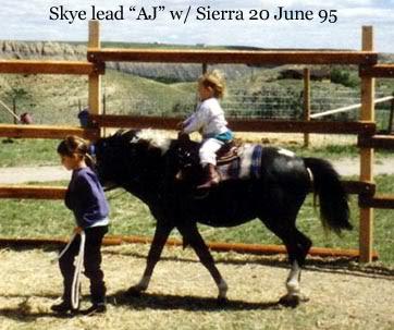 Skye Leads AJ while Sierra rides