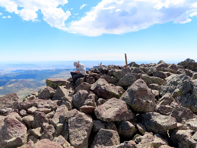 At the summit of Hilgard Mountain