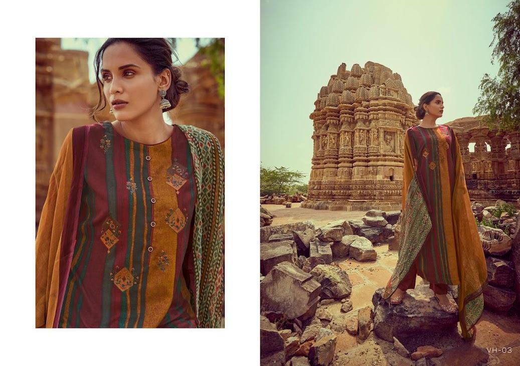Viha Varsha Ehrum Pashmina Dress Material Manufacturer Wholesaler