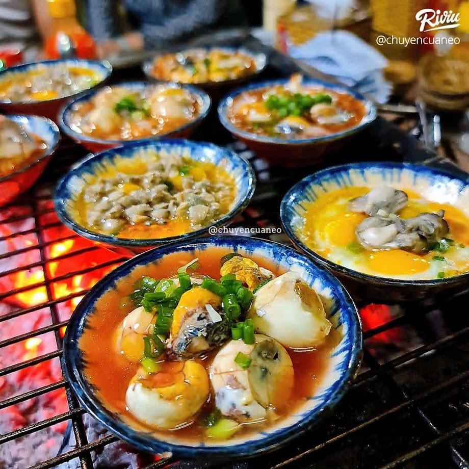 Bin Bin chợ Hồ Thị Kỷ - chén cút hàu nướng 12k