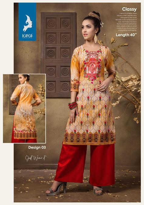 Just Wear It Kaya Branded Straight Cut Kurtis Manufacturer Wholesaler