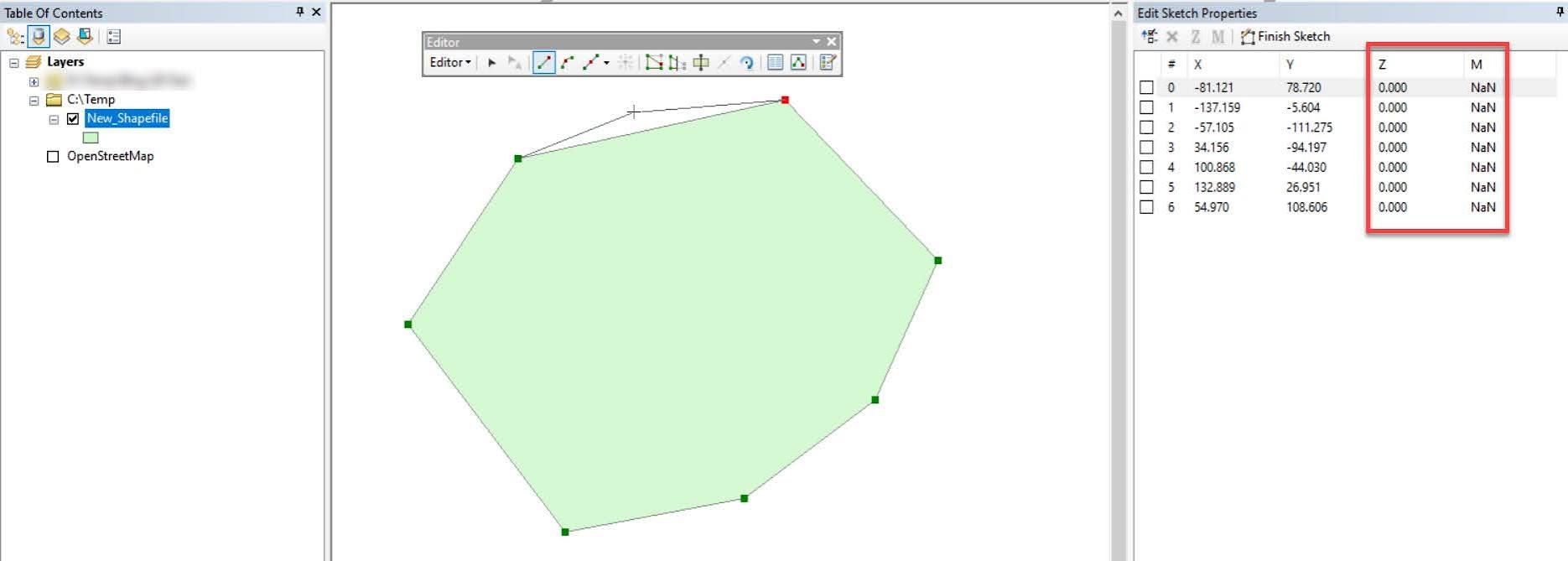 Dijitasi dengan nilai Z dan M pada ArcGIS