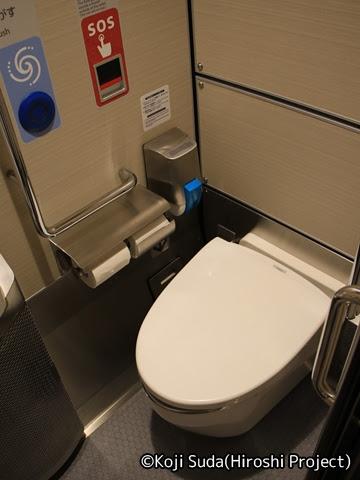 JR西日本 117系「WEST EXPRESS 銀河」 1号車 トイレ