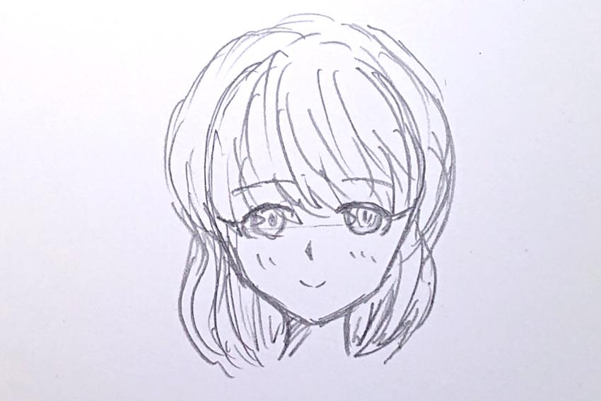 下描き(顔)