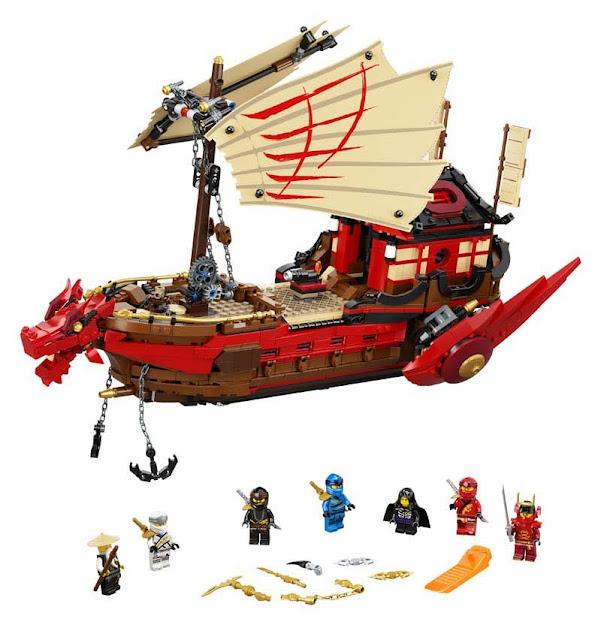 Contenido de Lego® 71705 Barco de Asalto Ninja