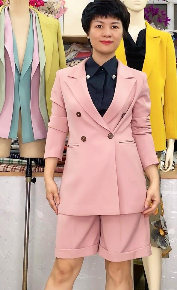Áo vests nữ dáng suông mix đồ quần short ngắn V731 thời trang thủy hà nội