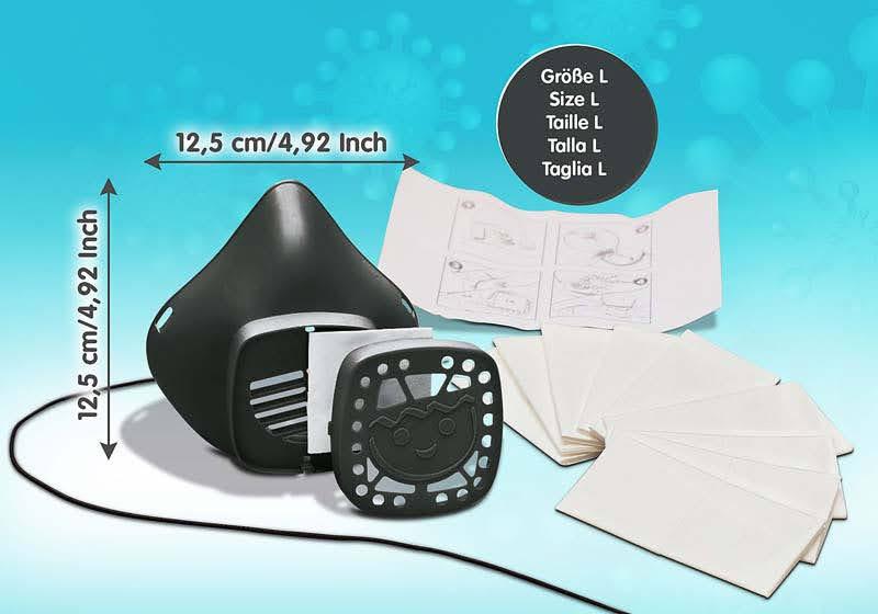 Contenido Real de Playmobil® 70722 Máscara para nariz y boca de PLAYMOBIL talla L Turquesa