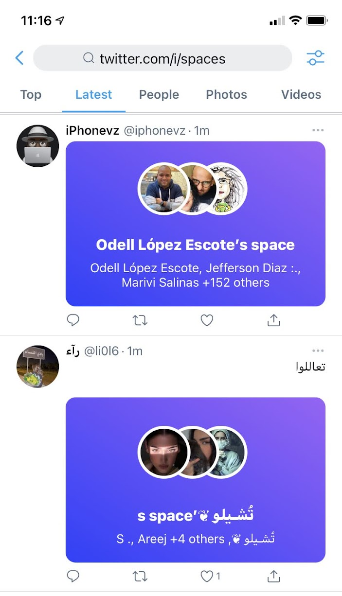 Search for Twitter Spaces