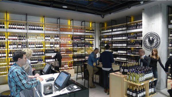 thiết kế shop rượu