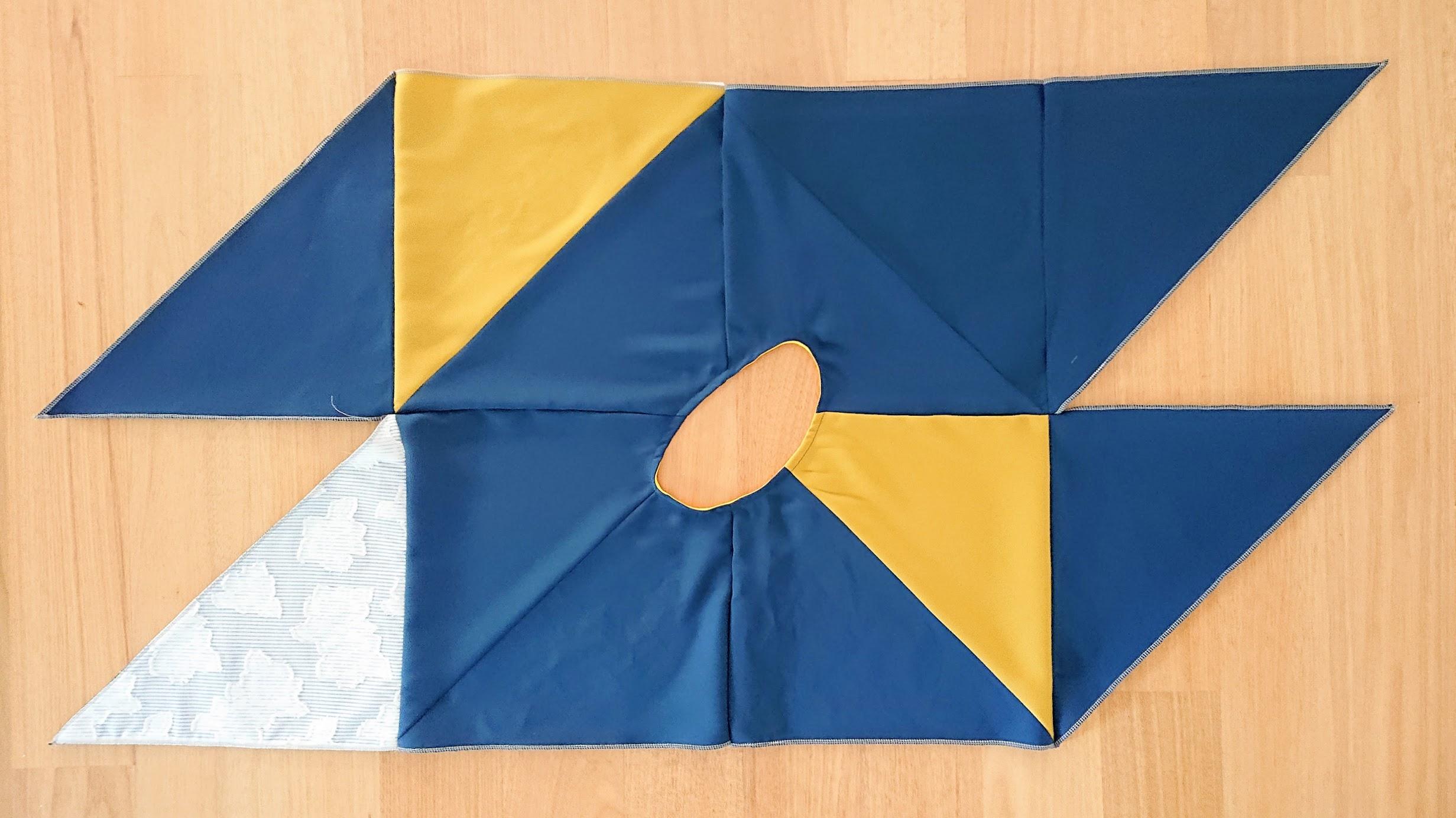 Finishing neckline of 6-Square Origami Top | FAFAFOOM STUDIO