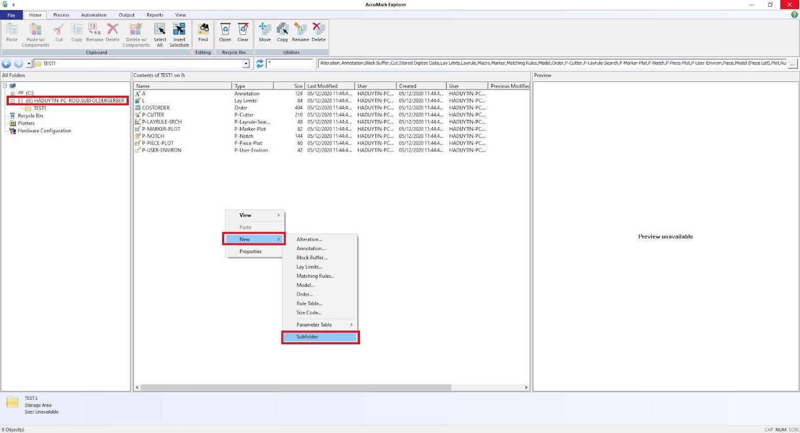 Cách Tạo Subfolder Gerber Accumark V10-V11-V12-V13 Sử Dụng SQL Server 38