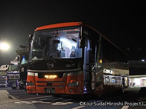 伊予鉄バス「道後エクスプレスふくおか号」 5620 めかりパーキングエリア_04