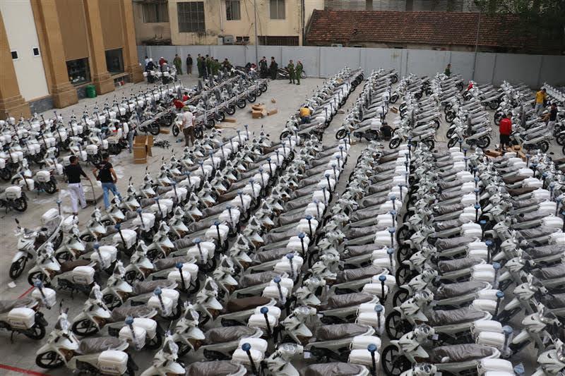 Công an tỉnh Nghệ An đã trang cấp gần 800 xe moto qua các đợt