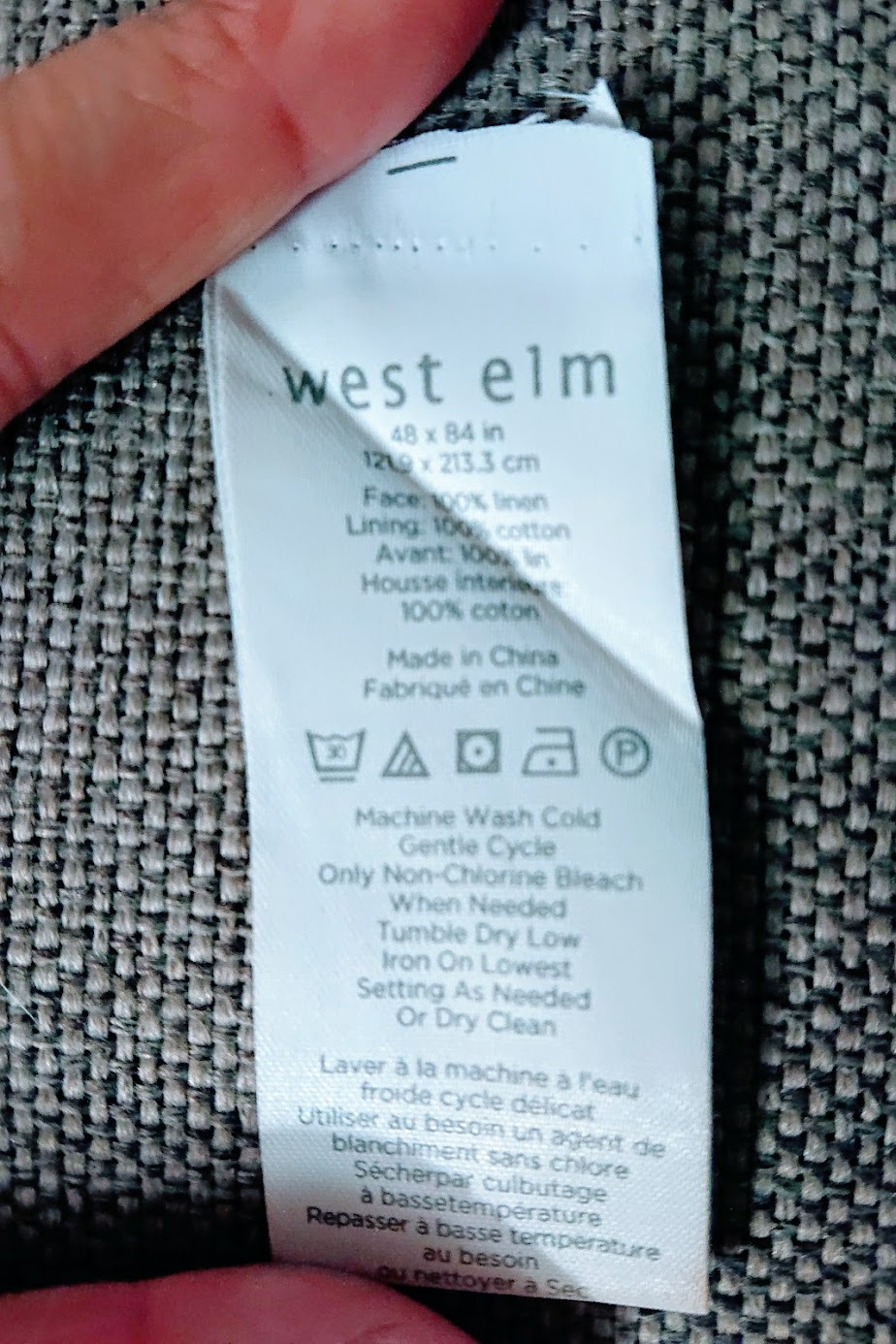 West Elm curtain tag | Handkerchief Dress - FAFAFOOM.COM