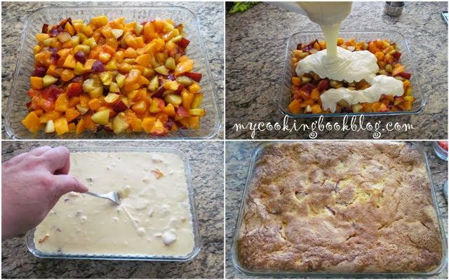 Лесен десерт с много плодове според сезона