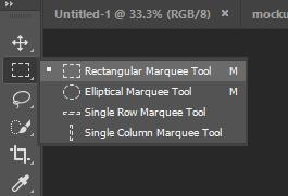 Menggunakan Rectangular Marquee Tool