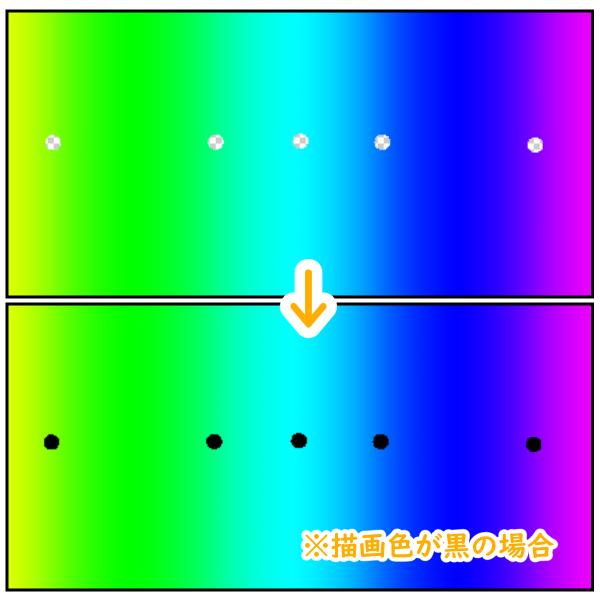 クリスタ:透明の穴を描画色で埋める