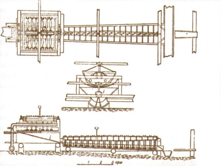 Золотопромывальная машина П. П. Аносова.