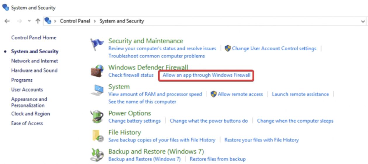 Allow Remote Desktop through Windows Defender Firewall