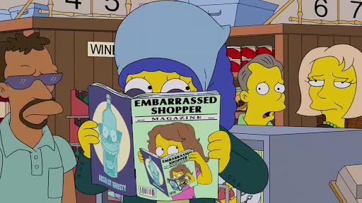 Los Simpsons 25x21 Amiguita pagada