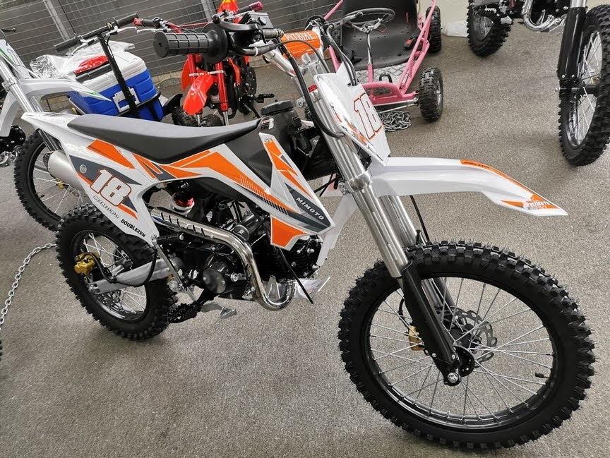 125cc Dingo Mini Moto Pro18 Pit Dirt Bike Bigwheel Motorcycle Orange
