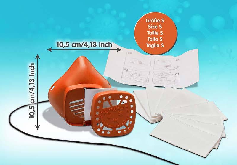 Contenido Real de Playmobil® 70726 Máscara para nariz y boca de PLAYMOBIL talla S Naranja