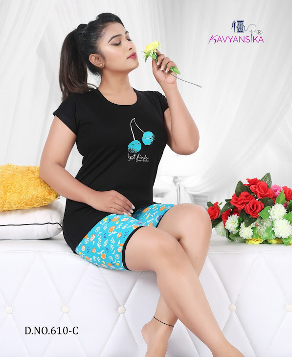 Kavyansika Vol 610 Shortsnight Suits Catalog Lowest Price