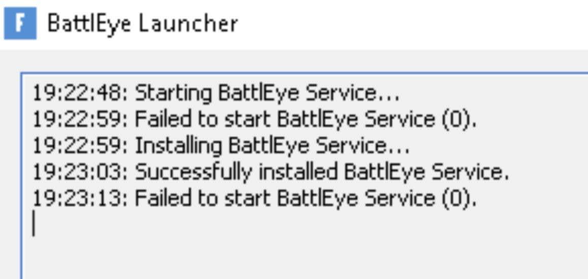 Fix for Failed to start BattlEye Service error