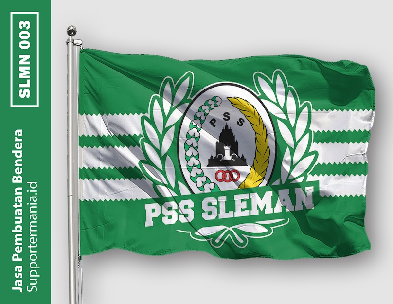 Desain Bendera atau Mini Flag PSS Sleman dan BCS 3